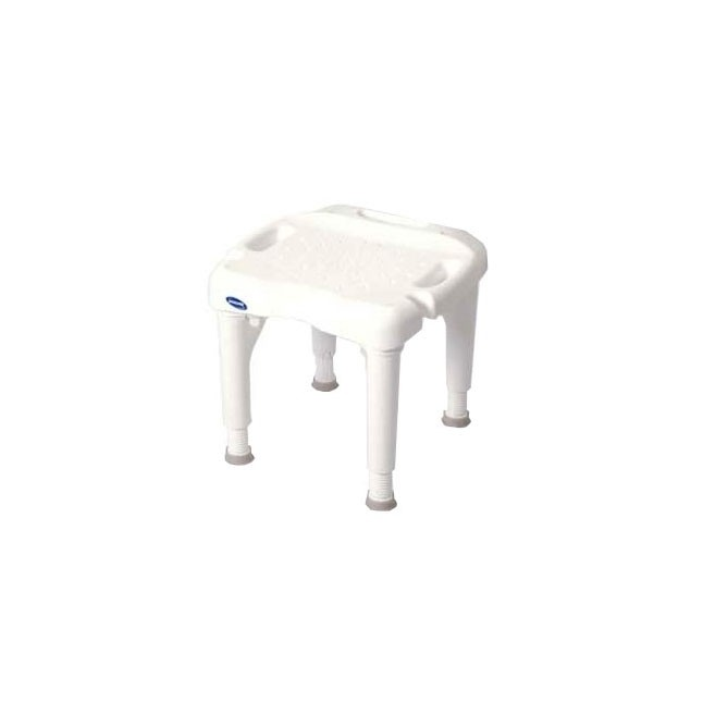 Bath Chair w/o back, Square, Plastic