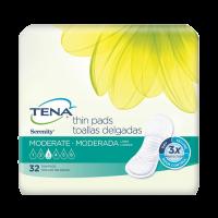 TENA Moderate Thin Pads, Long