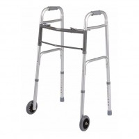 "Walker, Folding, 32-39"" Height, 5"" Caster"